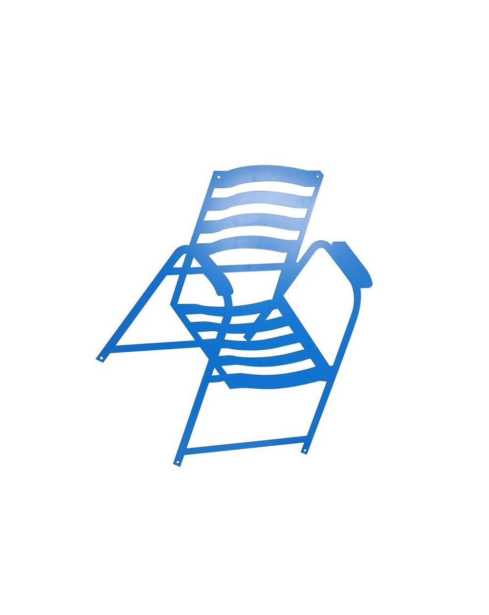 Chaise bleue à fixer au mur