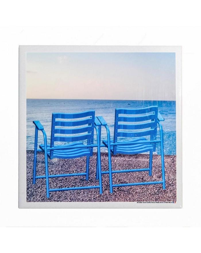 Dessous de plat 2 chaises bleues