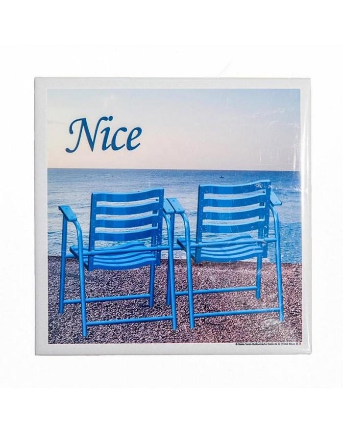 Dessous de plat 2 chaises bleues Nice