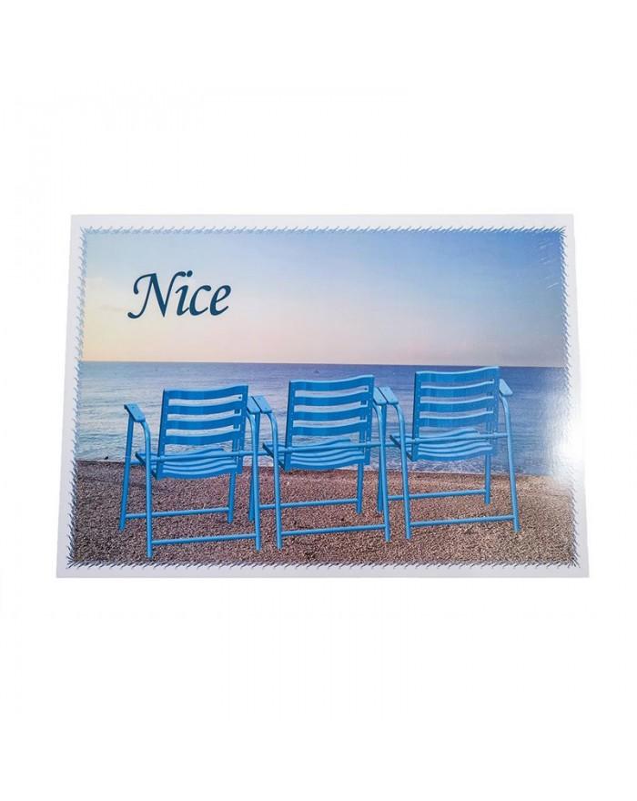 Set de table Nice 3 chaises bleues