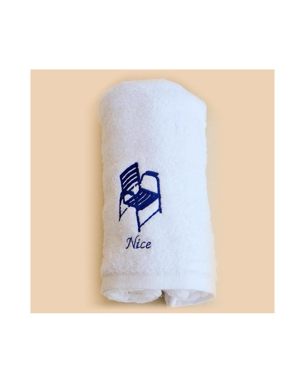 Serviette de Toilette blanche 50 x 100