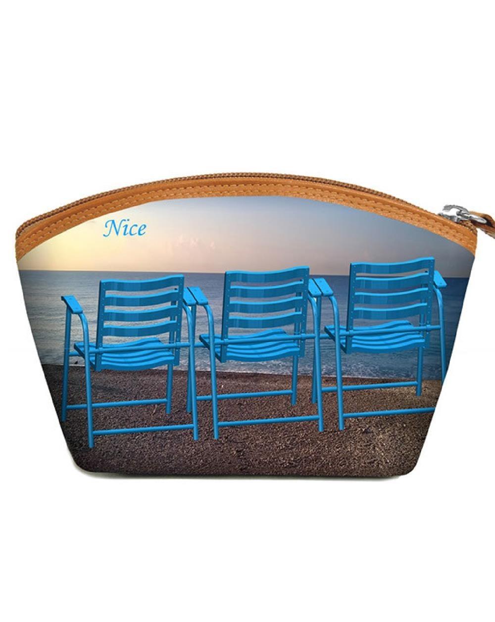 Grandes Pochettes 3 chaises bleues