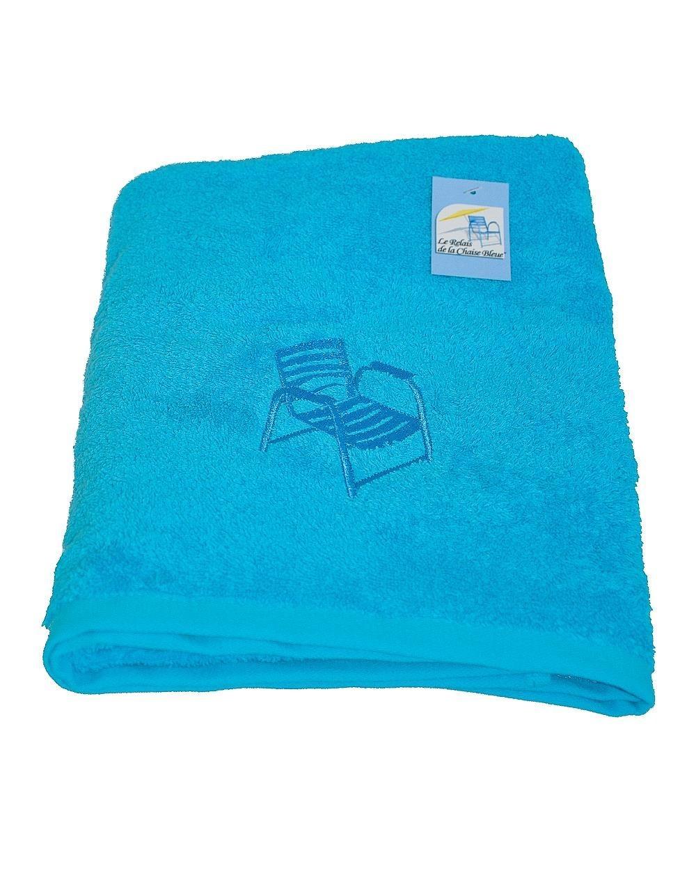 drap de bain bleu 70x140 cm. Black Bedroom Furniture Sets. Home Design Ideas