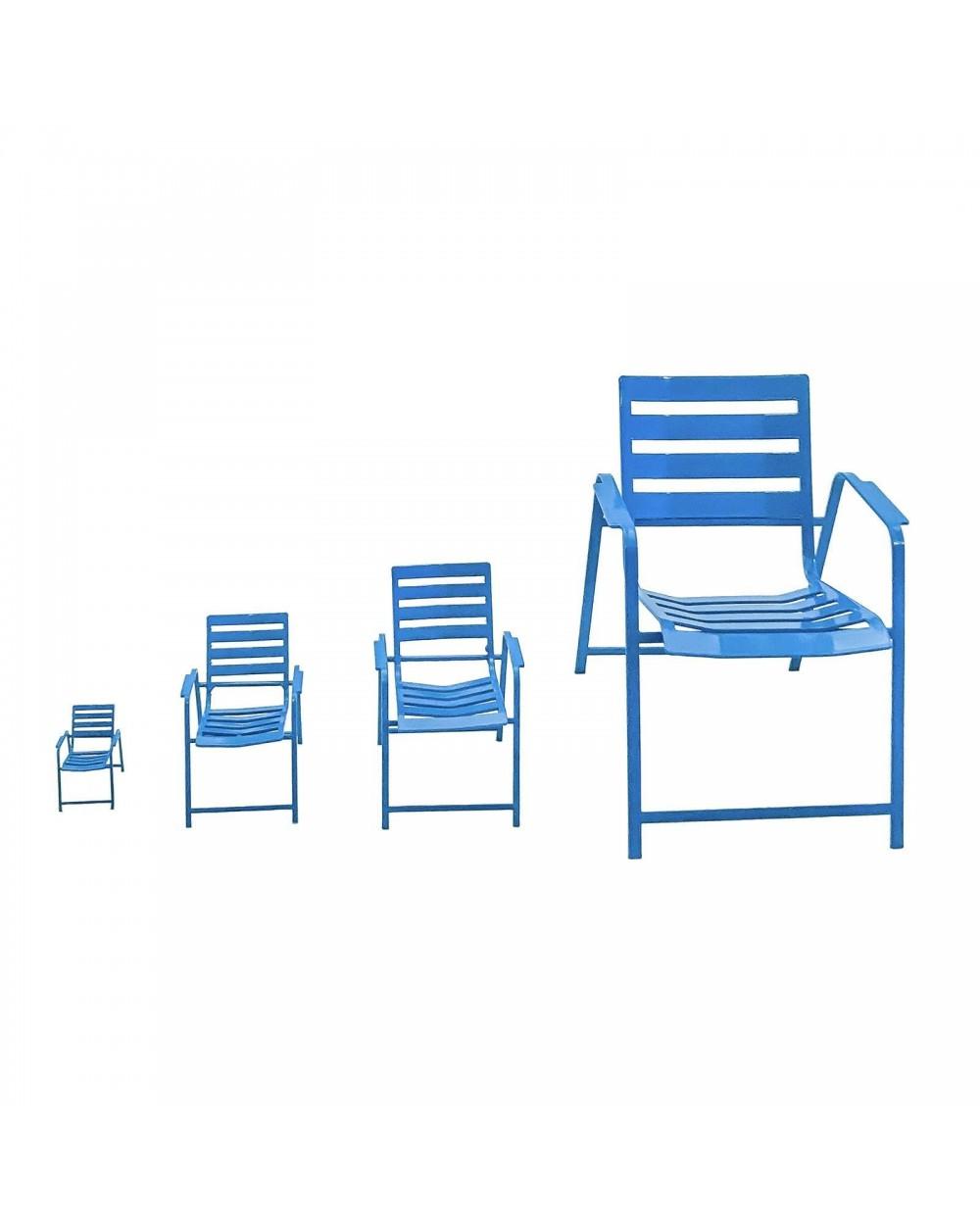 Chaises Bleues 3D