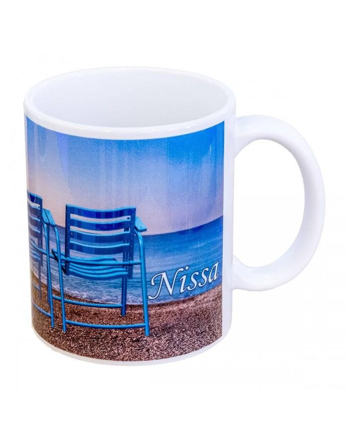 Mug 3 Chaises Bleue Nissa