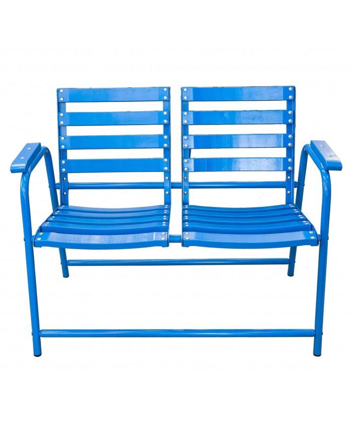 Chaise Bleue double