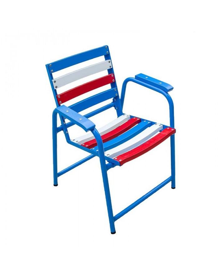 Chaise bleu-blanc-rouge