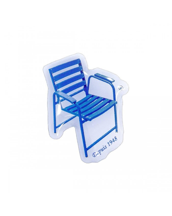 Pin's Chaise Bleue
