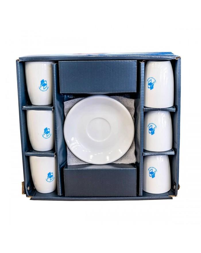Coffret 6 tasses à café Chaise Bleue