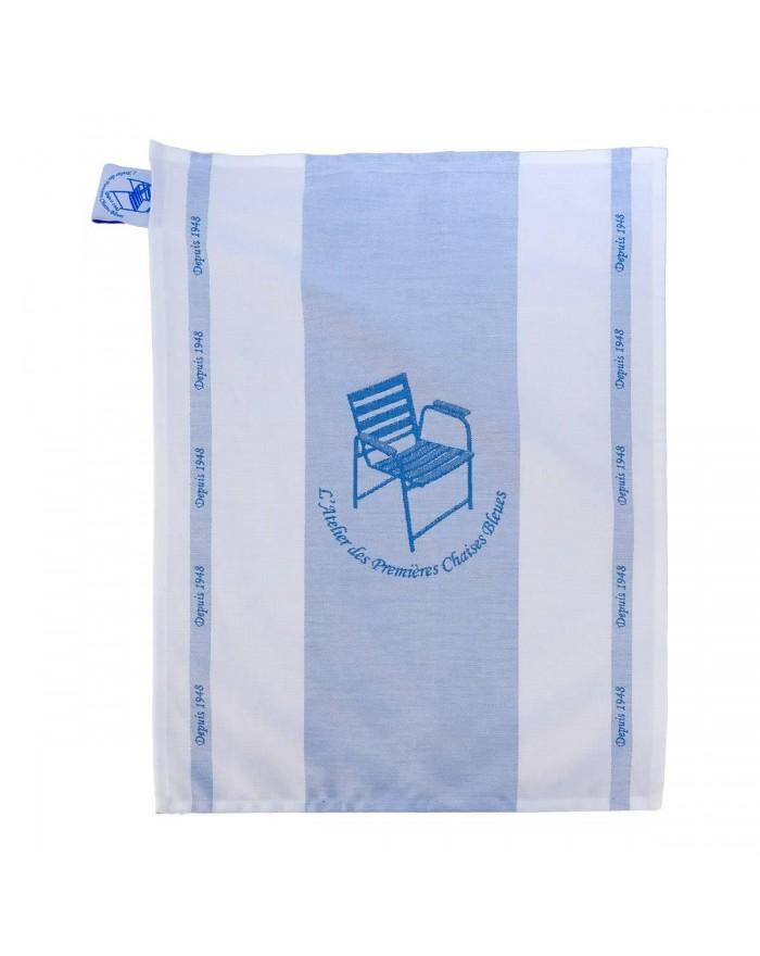 Large Blue Chair tea towel