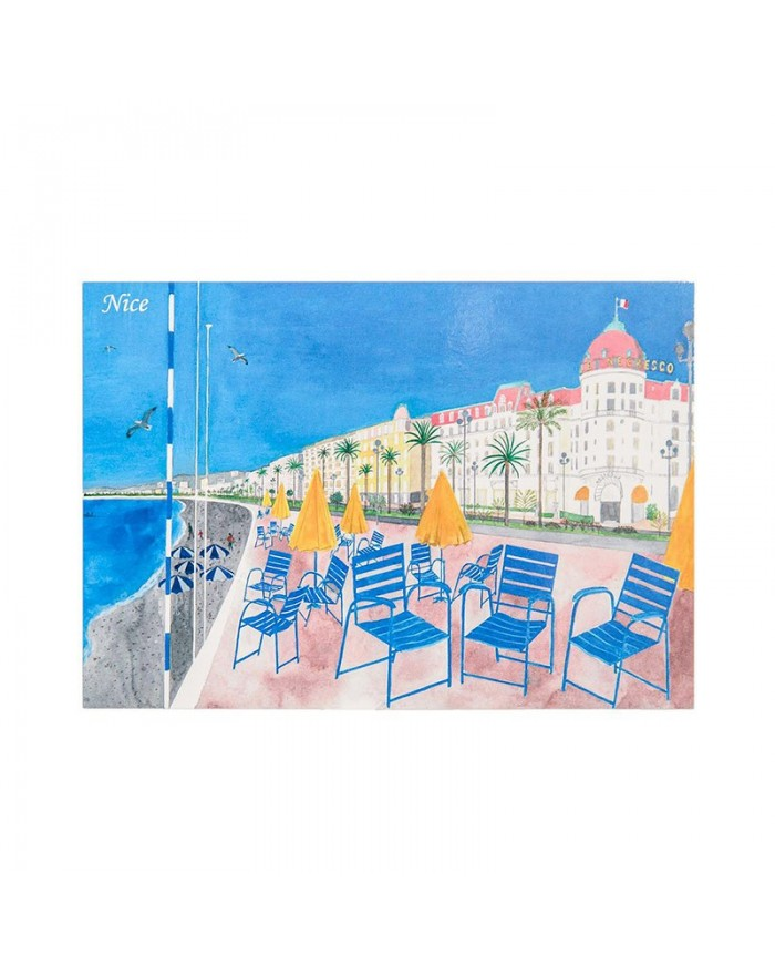 Carte postale Nice Chaise Bleue
