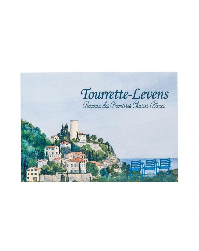 Carte postale Tourrette-Levens Chaise Bleue