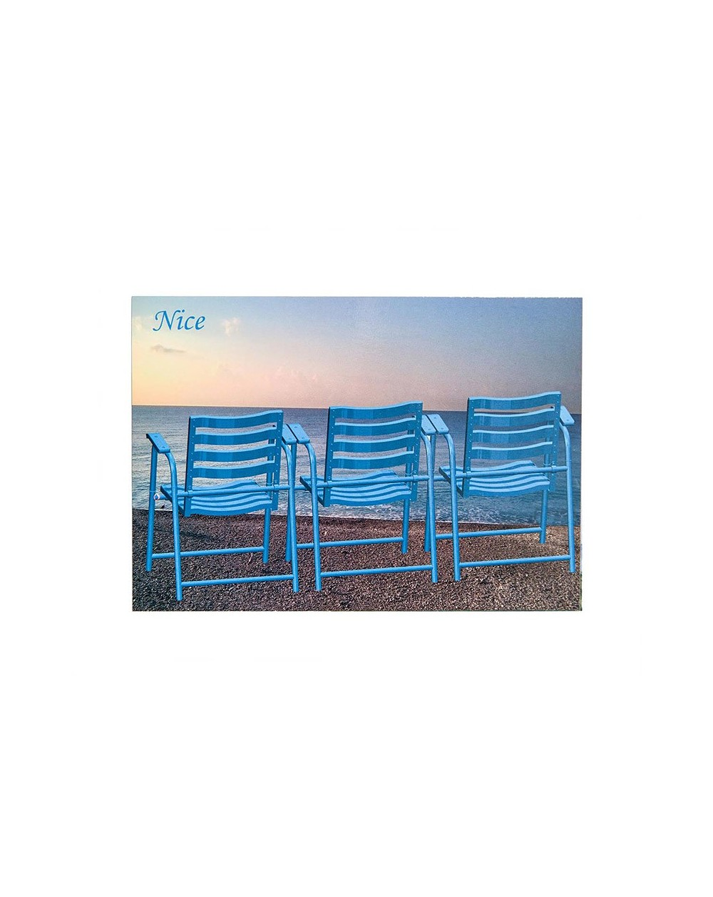 Carte postale Nice 3 Chaises Bleues