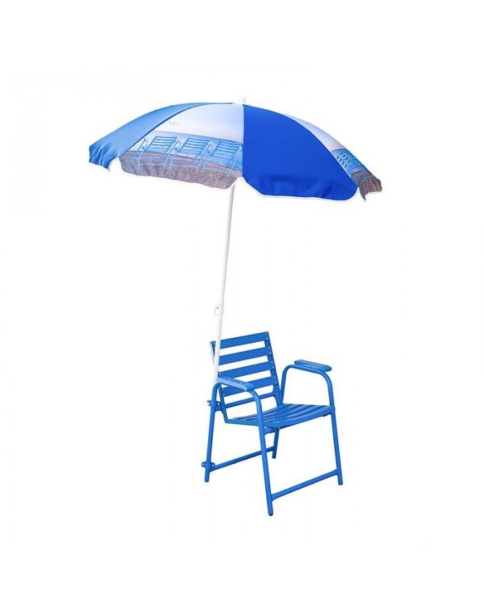 Parasol Chaise Bleue