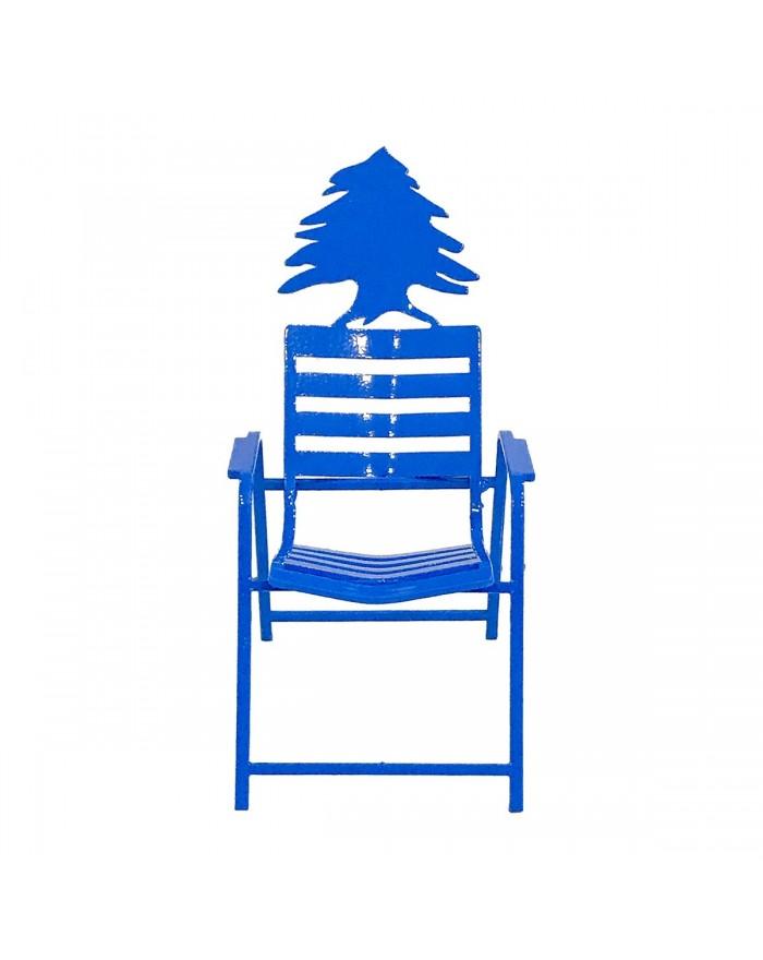 Chaise Bleue 3D sous le Cèdre du Liban.