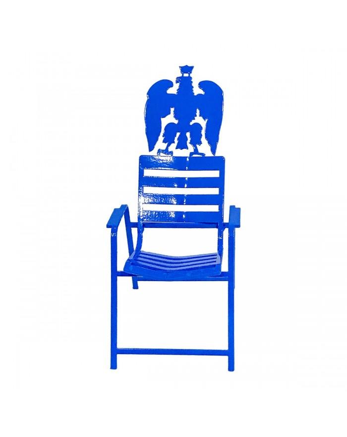 Chaise Bleue 3D Aigle de Nice