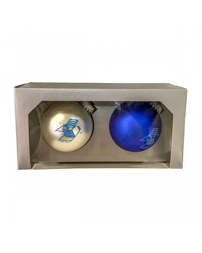 Boite 2 Boules de Noël Chaise Bleue Collection
