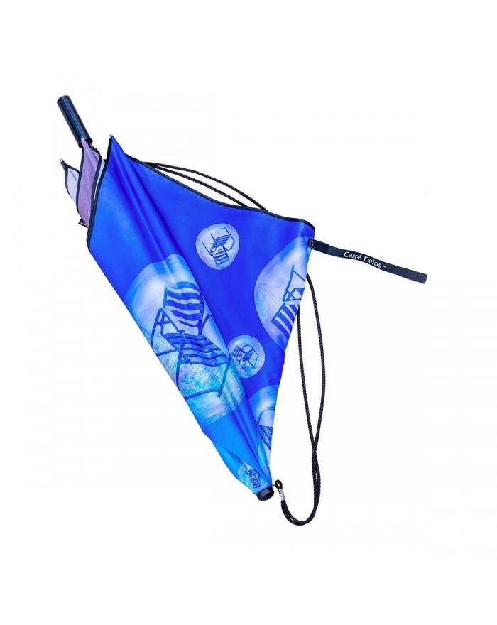 Parapluie Bulles Chaises Bleues - L'Arrivée des chaises Bleue par Alchy