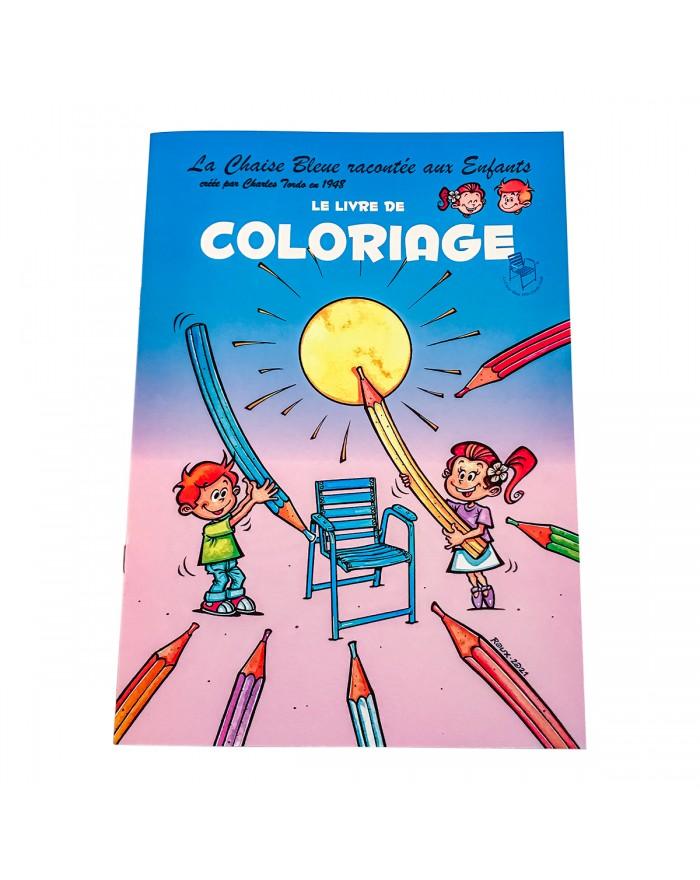 Cahier de coloriage pour enfants - Chaise Bleue