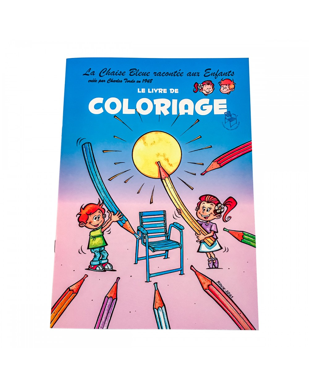 Blue Chair coloring book for kids