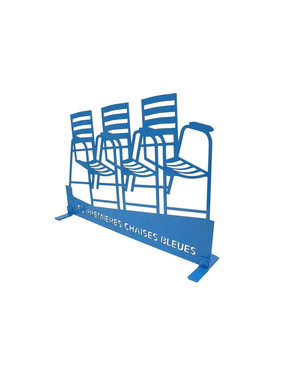 Chaise triple sur pattes