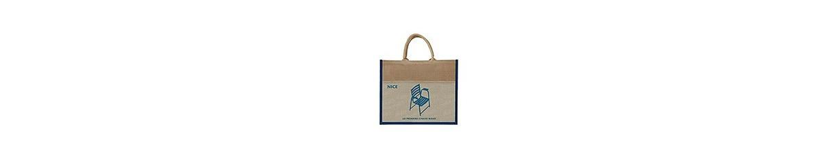 Carte postale, parasol, sac chaise bleue originale